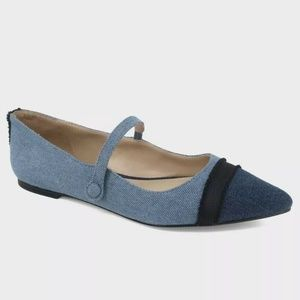 Women's Nellie Denim Mary Jane Ballet Flats